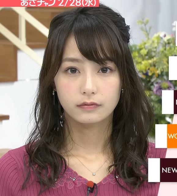 宇垣美里アナ 紫のニット姿キャプ・エロ画像4