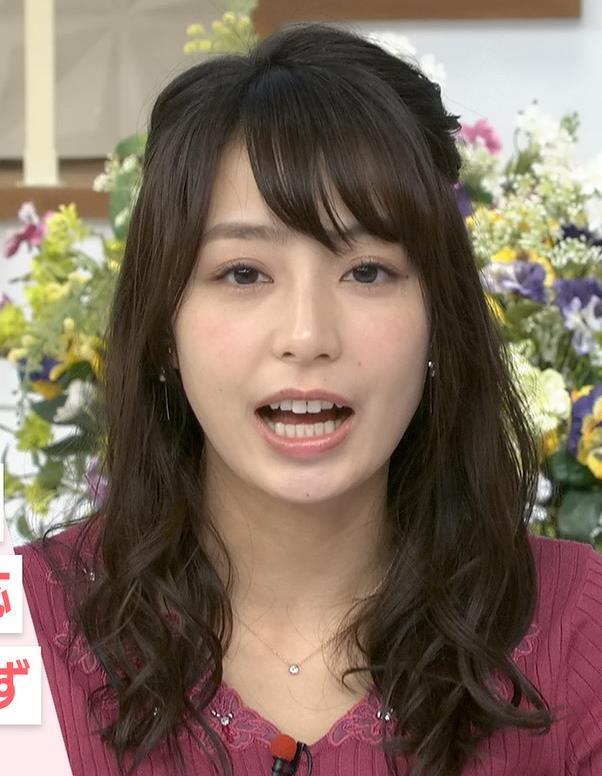 宇垣美里アナ 紫のニット姿キャプ・エロ画像5