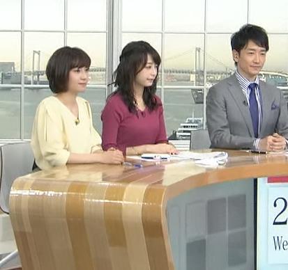 宇垣美里アナ 紫のニット姿キャプ・エロ画像6