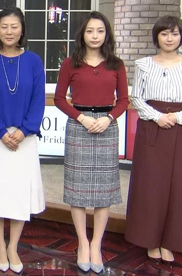 宇垣美里アナ ニットおっぱいキャプ・エロ画像2