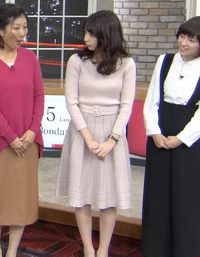 宇垣美里アナ かわいい女子アナのニット乳キャプ・エロ画像4