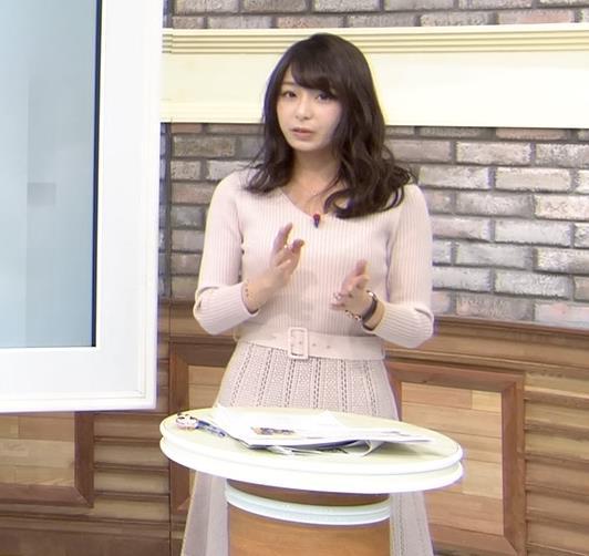宇垣美里アナ かわいい女子アナのニット乳キャプ・エロ画像5