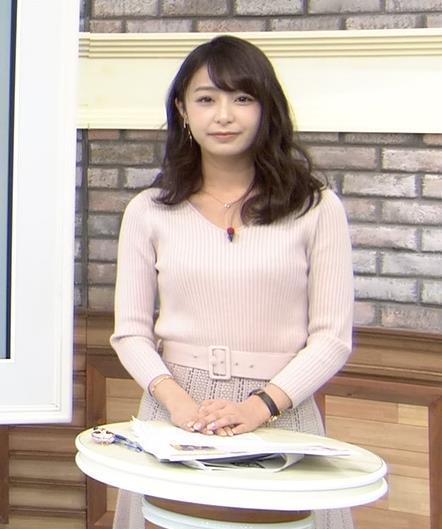宇垣美里アナ かわいい女子アナのニット乳キャプ・エロ画像6