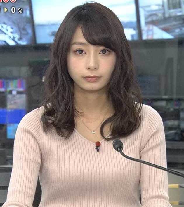 宇垣美里アナ かわいい女子アナのニット乳キャプ・エロ画像8