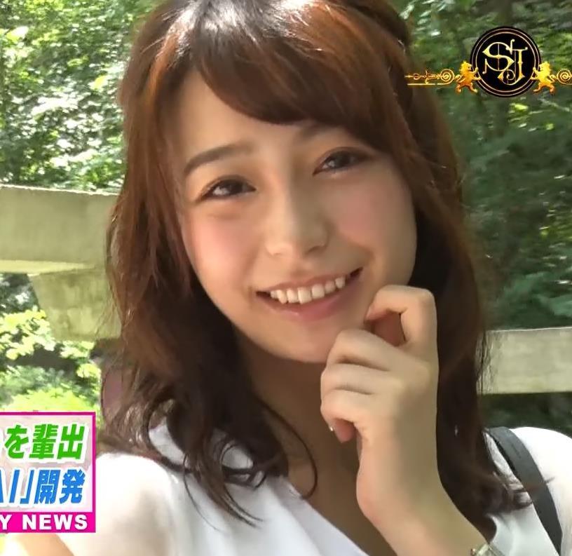 宇垣美里アナ 薄着でおっぱいがツンツンしてるキャプ・エロ画像13