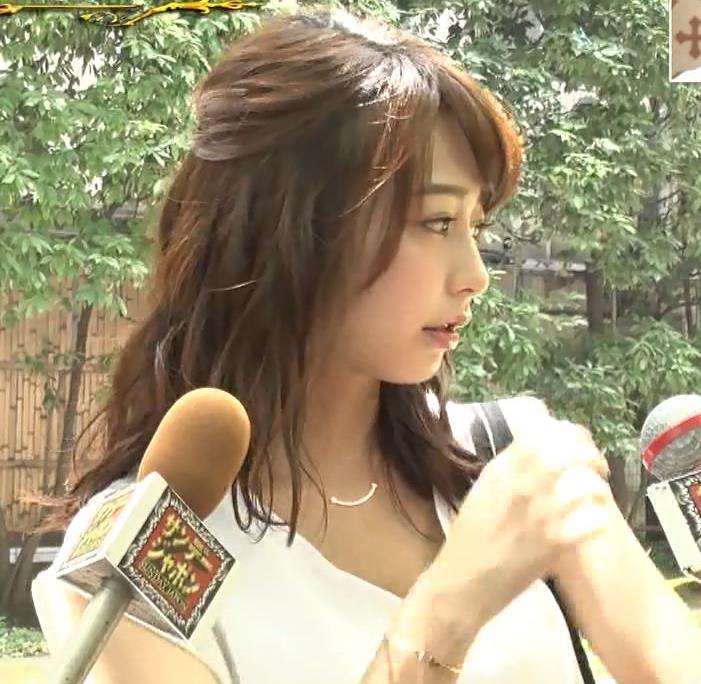 宇垣美里アナ 薄着でおっぱいがツンツンしてるキャプ・エロ画像6