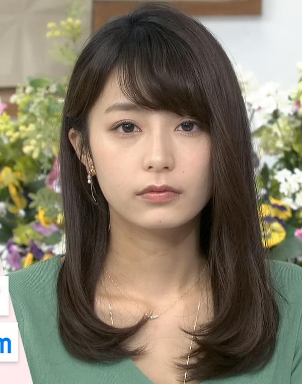 宇垣美里アナ 胸元緩めのニット乳キャプ・エロ画像