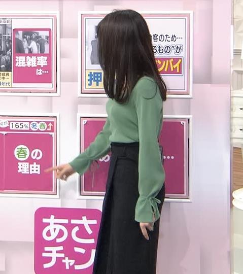 宇垣美里アナ 胸元緩めのニット乳キャプ・エロ画像2