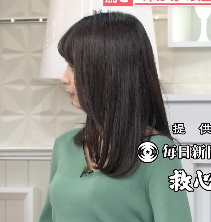 宇垣美里アナ 胸元緩めのニット乳キャプ・エロ画像5