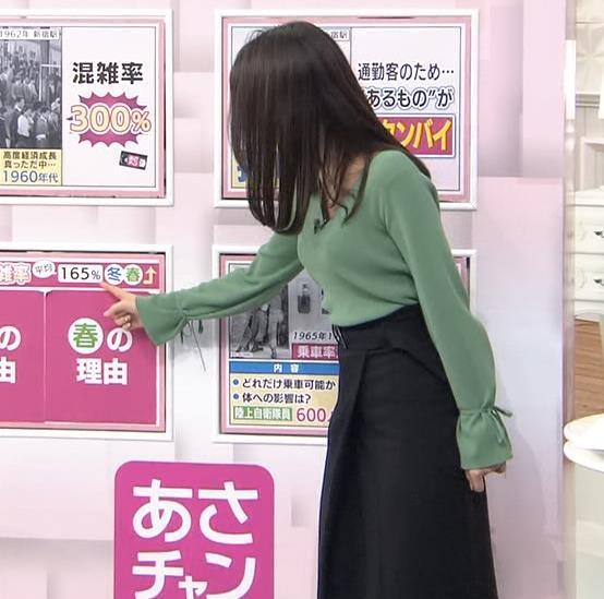 宇垣美里アナ 胸元緩めのニット乳キャプ・エロ画像9