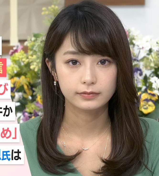 宇垣美里アナ 胸元緩めのニット乳キャプ・エロ画像10