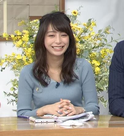 宇垣美里アナ おっぱいを押し潰してるところキャプ・エロ画像8