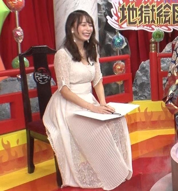宇垣美里 胸元が開いたエロい服で地上波出てるキャプ・エロ画像2