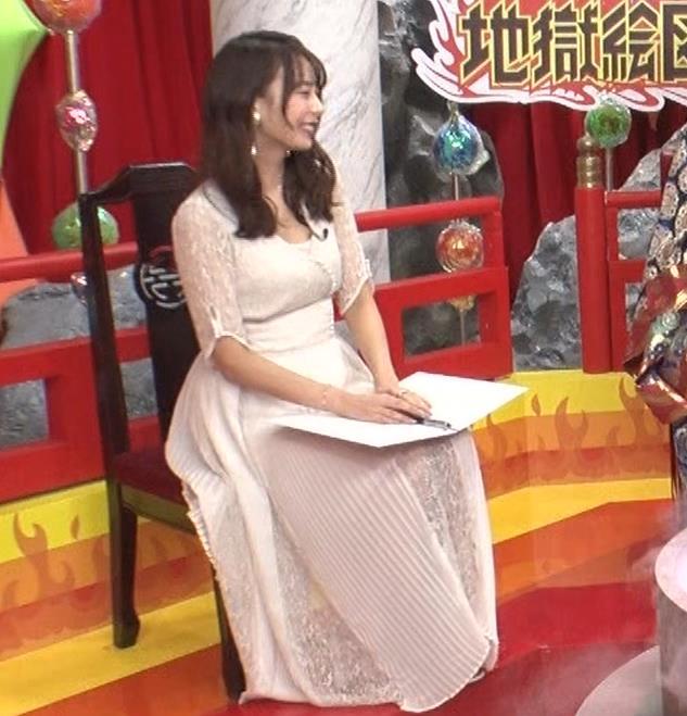 宇垣美里 胸元が開いたエロい服で地上波出てるキャプ・エロ画像3