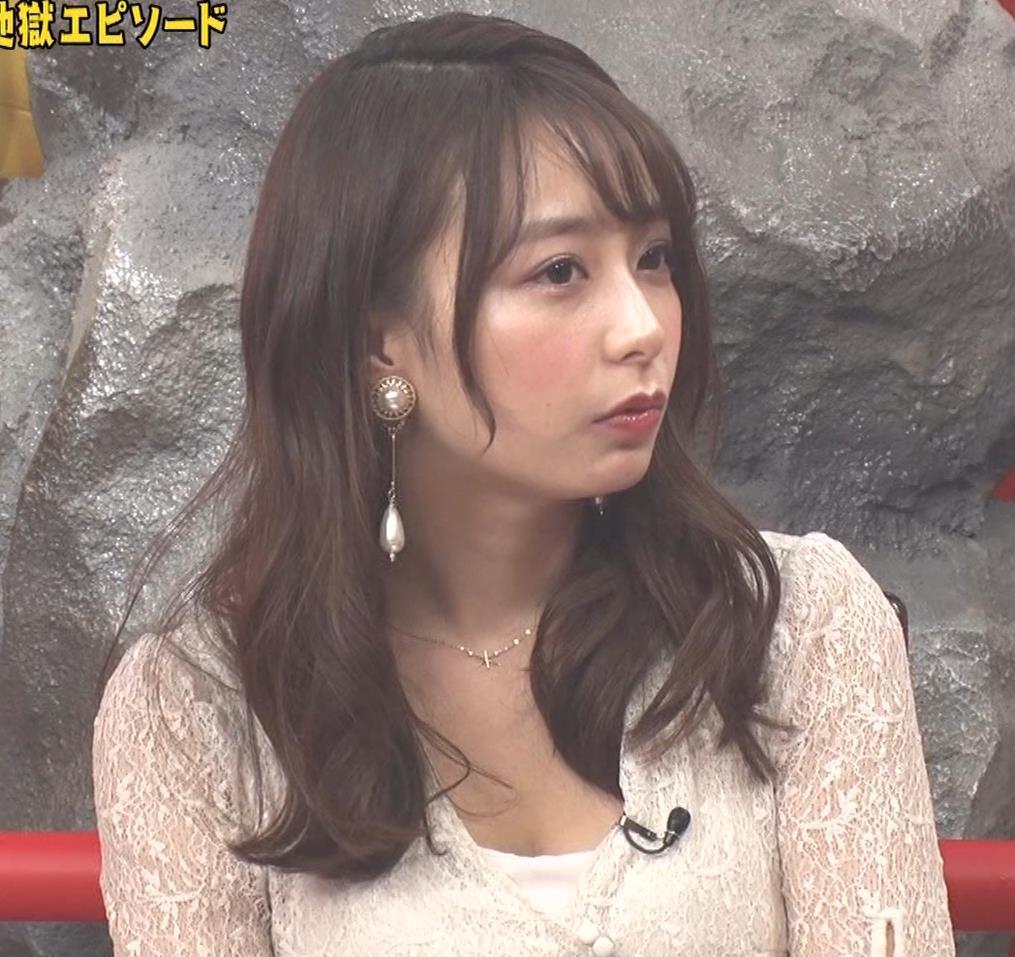 宇垣美里 胸元が開いたエロい服で地上波出てるキャプ・エロ画像6