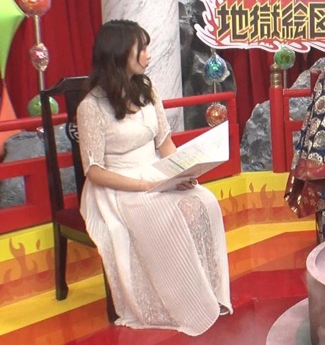 宇垣美里 胸元が開いたエロい服で地上波出てるキャプ・エロ画像9
