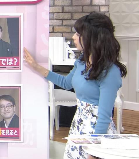宇垣美里アナ いつもより大きいニットおっぱいキャプ・エロ画像