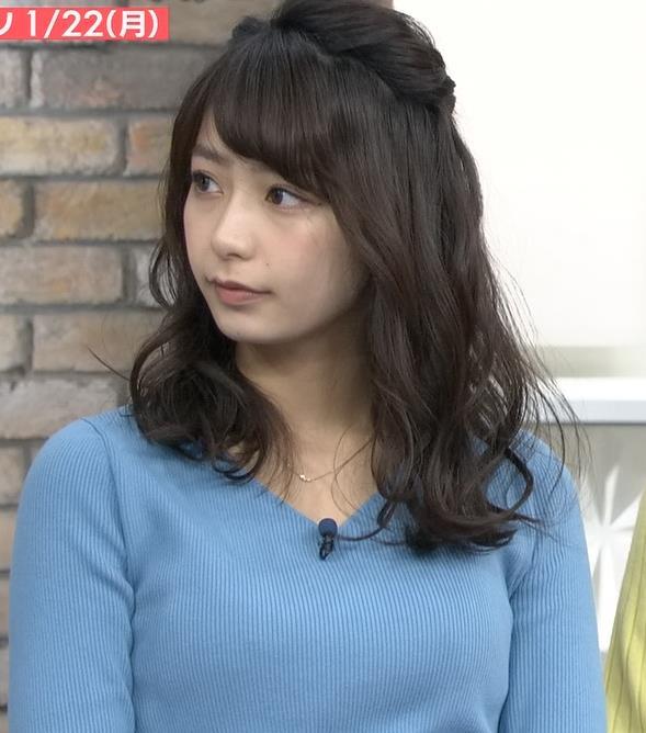 宇垣美里アナ いつもより大きいニットおっぱいキャプ・エロ画像2