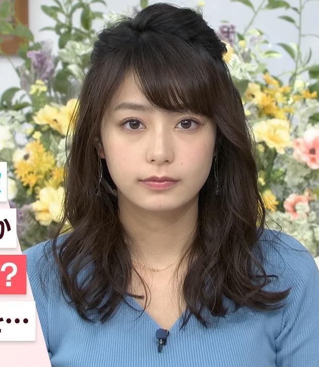 宇垣美里アナ いつもより大きいニットおっぱいキャプ・エロ画像3