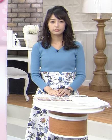 宇垣美里アナ いつもより大きいニットおっぱいキャプ・エロ画像4
