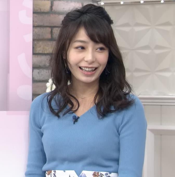 宇垣美里アナ いつもより大きいニットおっぱいキャプ・エロ画像9