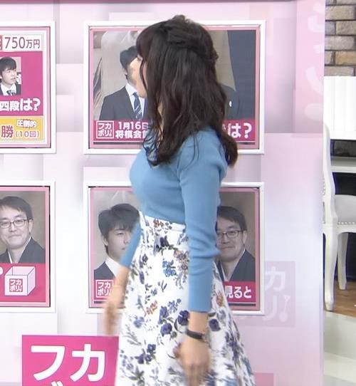 宇垣美里アナ いつもより大きいニットおっぱいキャプ・エロ画像10