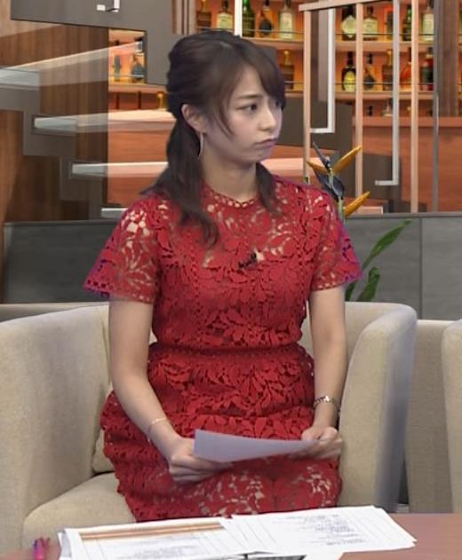 アナ 胸元の透け透けがエロいレースのワンピキャプ・エロ画像2