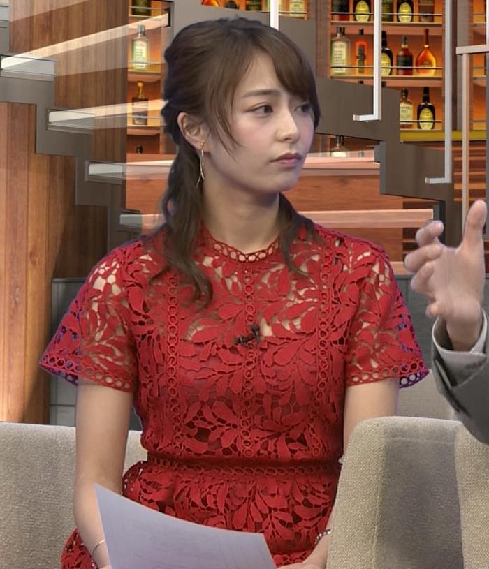 アナ 胸元の透け透けがエロいレースのワンピキャプ・エロ画像3