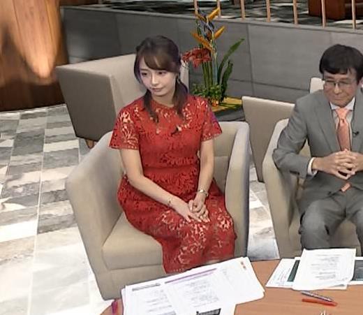 宇垣美里アナ 透け透けエロ衣装キャプ・エロ画像2