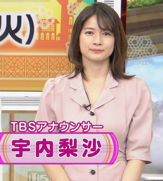 宇内梨沙アナ エッチな胸元・おっぱいキャプ・エロ画像2