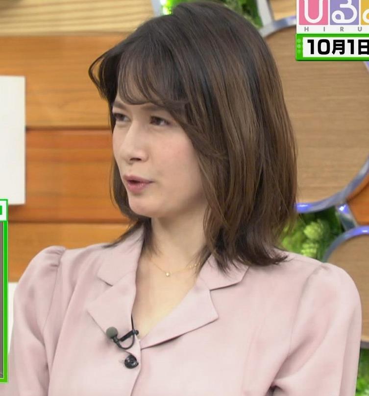 宇内梨沙アナ エッチな胸元・おっぱいキャプ・エロ画像3
