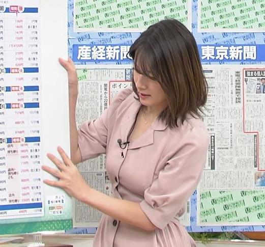 宇内梨沙アナ エッチな胸元・おっぱいキャプ・エロ画像7