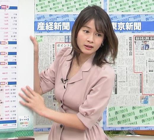 宇内梨沙アナ エッチな胸元・おっぱいキャプ画像(エロ・アイコラ画像)