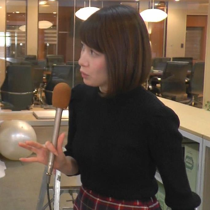 宇内梨沙アナ 大きくてエロいニット横乳キャプ・エロ画像6