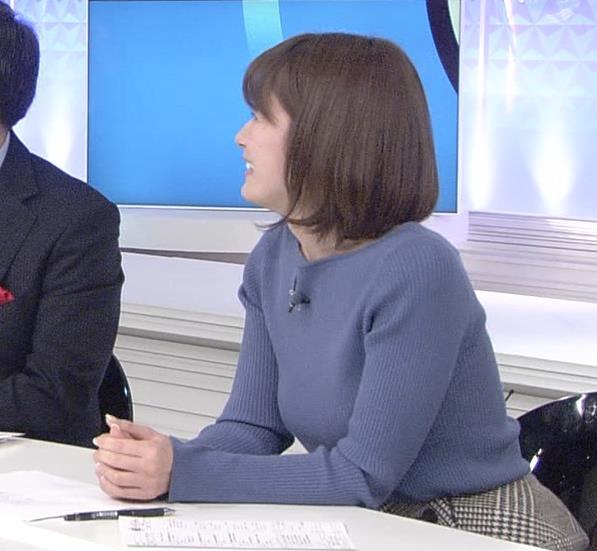 宇内梨沙アナ 巨乳を開放!キャプ・エロ画像3