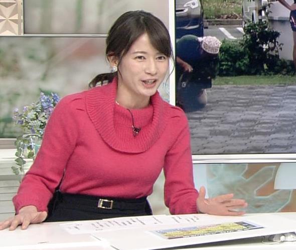宇内梨沙アナ ニットおっぱい★キャプ・エロ画像4