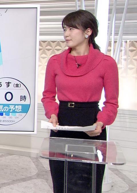 宇内梨沙アナ ニットおっぱい★キャプ・エロ画像7