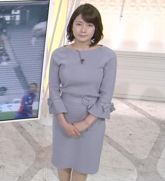 宇内梨沙アナ ゆったりめな服でもエロいおっぱいキャプ・エロ画像2