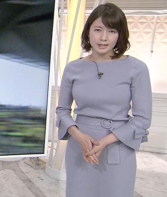 宇内梨沙アナ ゆったりめな服でもエロいおっぱいキャプ・エロ画像3