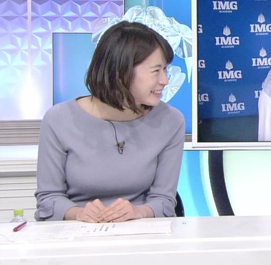 宇内梨沙アナ ゆったりめな服でもエロいおっぱいキャプ・エロ画像5