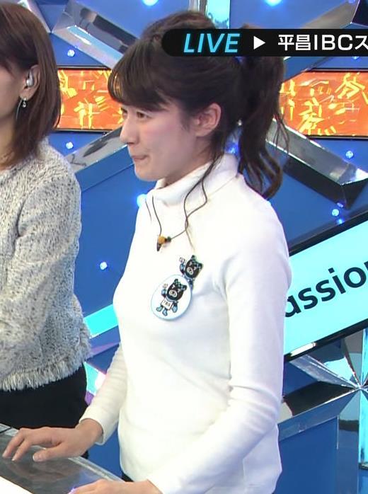 宇内梨沙アナ ぴったり衣装でおっぱいクッキリキャプ・エロ画像5