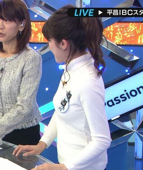 宇内梨沙アナ ぴったり衣装でおっぱいクッキリキャプ・エロ画像6