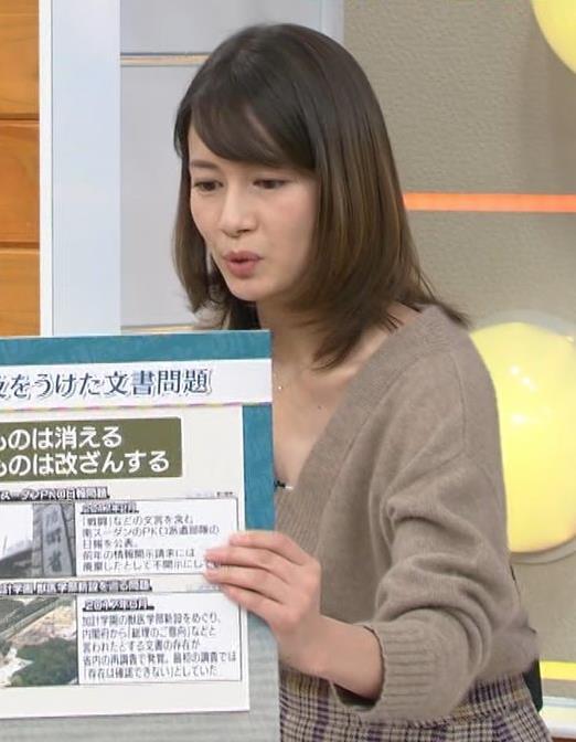 宇内梨沙 美人アナの胸元キャプ・エロ画像4