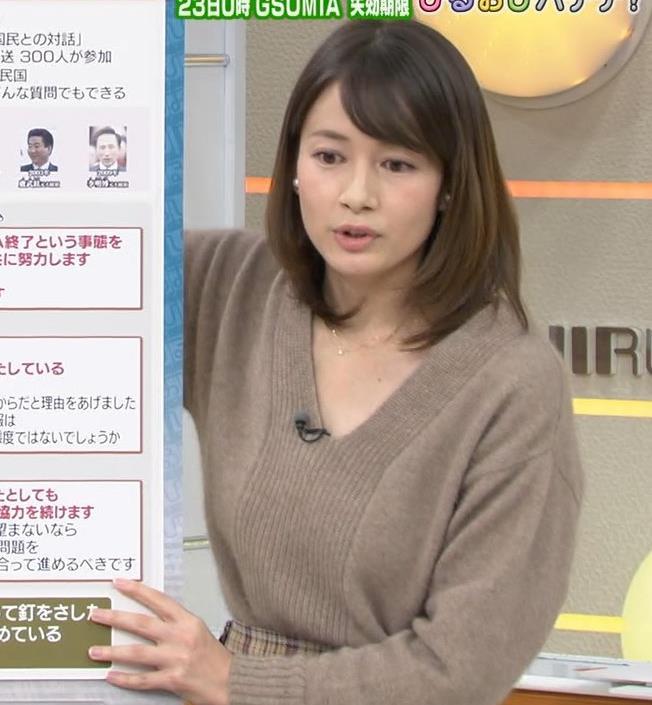 宇内梨沙 美人アナの胸元キャプ・エロ画像5