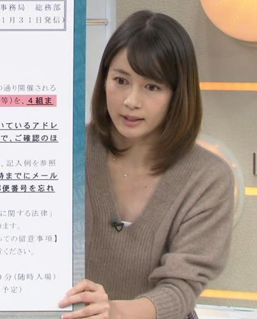 宇内梨沙 美人アナの胸元キャプ画像(エロ・アイコラ画像)
