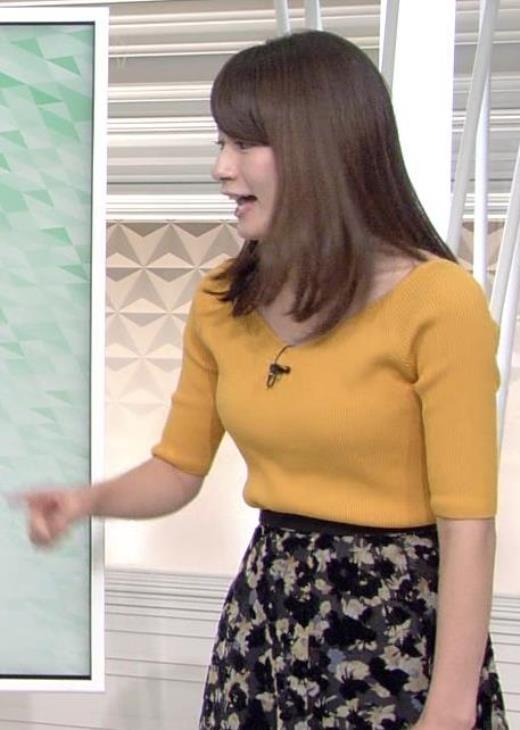 宇内梨沙 黄色のニットキャプ画像(エロ・アイコラ画像)