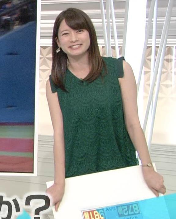 宇内梨沙アナ かわいいノースリーブワンピキャプ・エロ画像3