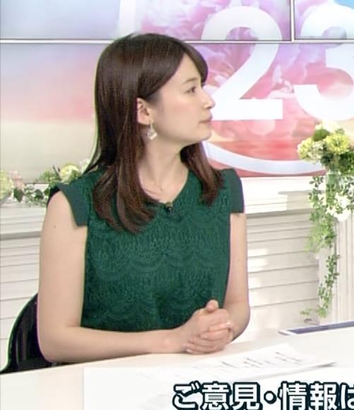宇内梨沙アナ かわいいノースリーブワンピキャプ・エロ画像5