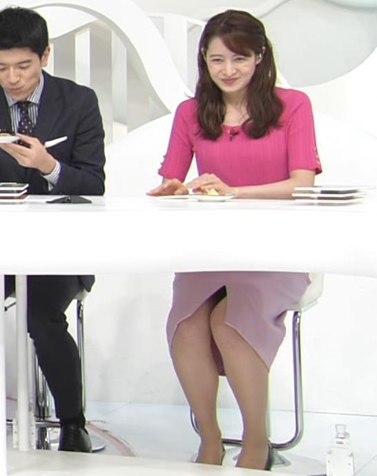 後呂有紗アナ パンツが見えそうな机の下キャプ・エロ画像7