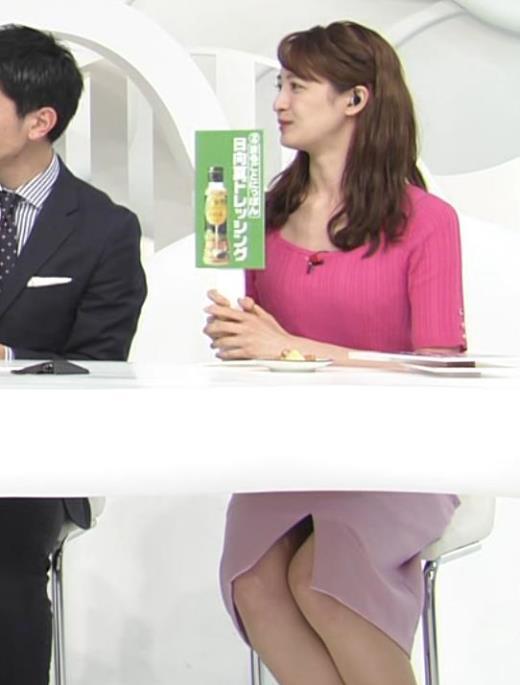 後呂有紗アナ パンツが見えそうな机の下